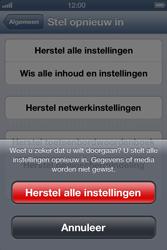 Apple iPhone 4S met iOS 6 (Model A1387) - Instellingen aanpassen - Fabrieksinstellingen terugzetten - Stap 7