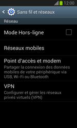 Samsung S7390 Galaxy Trend Lite - Réseau - Changer mode réseau - Étape 5