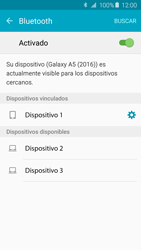 Samsung Galaxy A5 (2016) - Bluetooth - Conectar dispositivos a través de Bluetooth - Paso 8