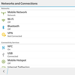 BlackBerry Passport - WiFi and Bluetooth - Manual configuration - Step 5