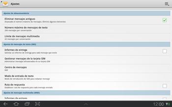 Samsung P7500 Galaxy Tab 10-1 - Mensajería - Configurar el equipo para mensajes de texto - Paso 5