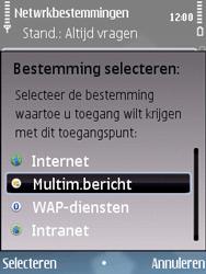 Nokia E75 - MMS - handmatig instellen - Stap 11