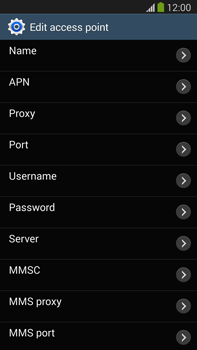 Samsung N9005 Galaxy Note III LTE - MMS - Manual configuration - Step 8