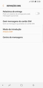 Samsung Galaxy S8 - Android Oreo - SMS - Como configurar o centro de mensagens -  10
