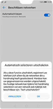 Huawei P20 Pro Dual-SIM (Model CLT-L29) - Netwerk selecteren - Handmatig een netwerk selecteren - Stap 8