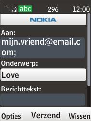 Nokia 6303i classic - E-mail - Hoe te versturen - Stap 10