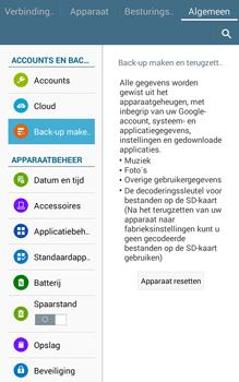 Samsung Galaxy Tab4 8.0 4G (SM-T335) - Instellingen aanpassen - Fabrieksinstellingen terugzetten - Stap 7