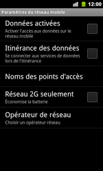 Google Nexus S - Internet - Activer ou désactiver - Étape 6