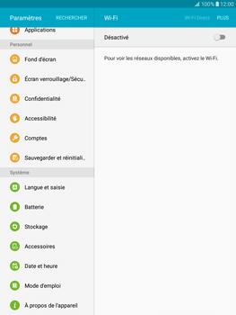 Samsung T815 Galaxy Tab S2 9.7 - Appareil - Réinitialisation de la configuration d