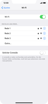 Apple iPhone XR - Wi-Fi - Como configurar uma rede wi fi - Etapa 5