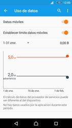 Sony Xperia M5 (E5603) - Internet - Ver uso de datos - Paso 10