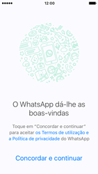 Apple iPhone SE iOS 10 - Aplicações - Como configurar o WhatsApp -  7