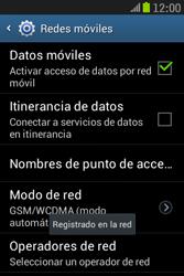 Samsung S6310 Galaxy Young - Red - Seleccionar una red - Paso 10