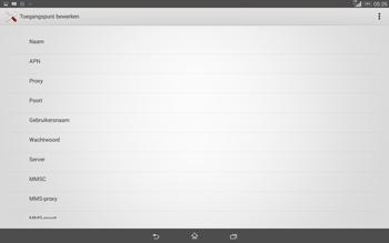 Sony Xperia Tablet Z2 (SGP521) - Internet - handmatig instellen - Stap 9