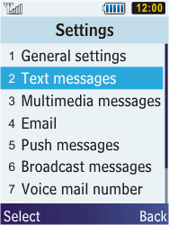 Samsung C3350 Xcover 2 - SMS - Manual configuration - Step 5