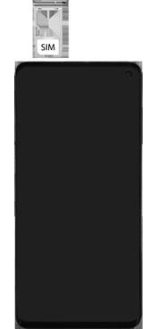 Samsung Galaxy S10 - Toestel - simkaart plaatsen - Stap 4