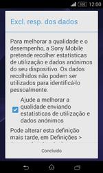 Sony Xperia E1 - Primeiros passos - Como ligar o telemóvel pela primeira vez -  12