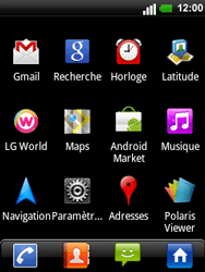 LG C660 Optimus Pro - Messagerie vocale - configuration manuelle - Étape 4