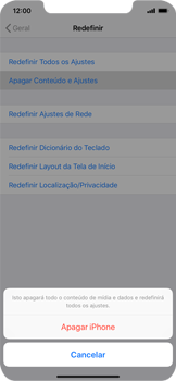 Apple iPhone XR - Funções básicas - Como restaurar as configurações originais do seu aparelho - Etapa 6