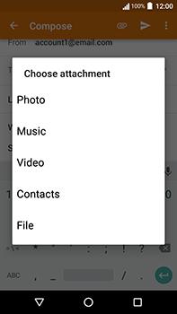 Acer Liquid Zest 4G Plus - E-mail - Sending emails - Step 10