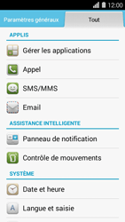 Huawei Ascend Y550 - Messagerie vocale - configuration manuelle - Étape 4