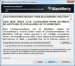 BlackBerry 9300 Curve 3G - Software - Synchroniseer met PC - Stap 8