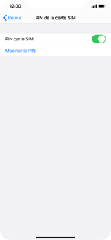Apple iPhone XR - iOS 13 - Sécurité - modifier SIM PIN - Étape 5