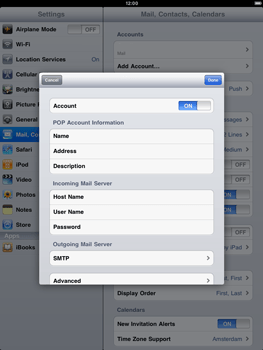 Apple iPad 2 - E-mail - Manual configuration - Step 10