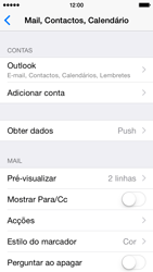 Apple iPhone 5s iOS 8 - Email - Adicionar conta de email -  9