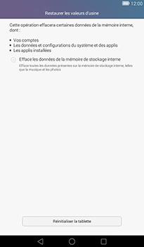 Huawei MediaPad T1 (7.0) - Device maintenance - Retour aux réglages usine - Étape 6
