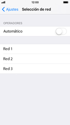 Apple iPhone 5s - iOS 11 - Red - Seleccionar una red - Paso 6