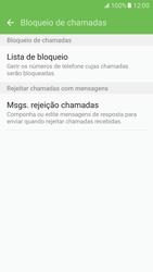 Samsung Galaxy S7 - Chamadas - Bloquear chamadas de um número -  7