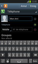 Samsung Galaxy S2 - Contact, Appels, SMS/MMS - Ajouter un contact - Étape 7