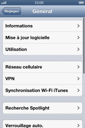 Apple iPhone 4 - iOS 6 - Internet - configuration manuelle - Étape 5