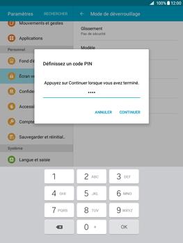 Samsung Galaxy Tab A - Sécuriser votre mobile - Activer le code de verrouillage - Étape 8