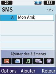 Samsung S5610 Primo - MMS - envoi d'images - Étape 6