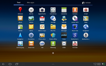 Samsung P7500 Galaxy Tab 10-1 - E-mail - Envoi d
