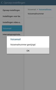 Samsung Galaxy Tab 4 (T335) - Voicemail - Handmatig instellen - Stap 10