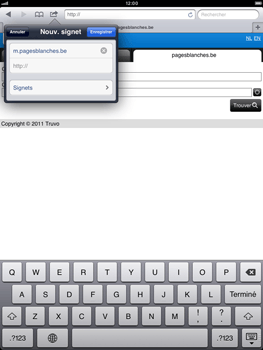 Apple iPad mini - Internet - Navigation sur Internet - Étape 11