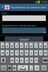 Samsung S6810P Galaxy Fame - E-mail - Configurer l