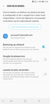 Samsung Galaxy A7 (2018) - Toestel - stel Zoek mijn mobiel in - Stap 7