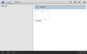 Samsung P7500 Galaxy Tab 10-1 - Internet - Navigation sur Internet - Étape 10