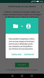 Huawei P8 Lite (2017) - Aplicações - Como configurar o WhatsApp -  6