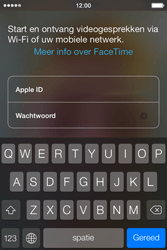 Apple iPhone 4 met iOS 7 - Applicaties - FaceTime gebruiken - Stap 5