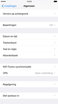Apple iphone 6s plus met ios 10 mode a1687 - Instellingen aanpassen - Fabrieksinstellingen terugzetten - Stap 4