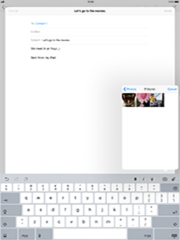 Apple Apple iPad Pro 12.9 - iOS 11 - Email - Sending an email message - Step 10