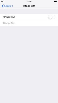 Apple iPhone 8 Plus - iOS 12 - Segurança - Como ativar o código PIN do cartão de telemóvel -  5