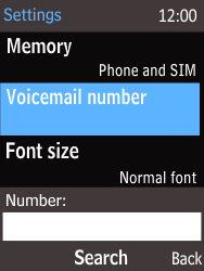 Nokia 220 - Voicemail - Manual configuration - Step 7