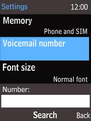 Nokia 220 - Voicemail - Handmatig instellen - Stap 7