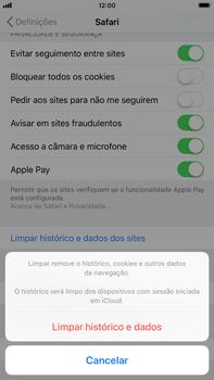 Apple iPhone 8 Plus - Dados - Como limpar cookies/cache/histórico -  5